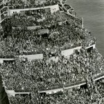 Official U.S. Navy Photograph. [Troopship returns], 1945.