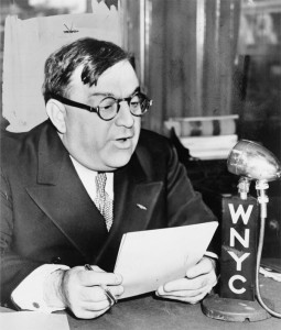 Fred Palumbo, Mayor La Guardia speaks over WNYC on Grade A milk from Budget Room, March 23, 1940. Library of Congress Prints and Photographic Division, LC-USZ62-132498.